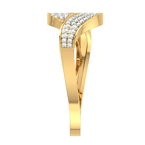 14 K Or jaune 0,35 CT TW Round-cut-diamond (IJ | SI) en diamant