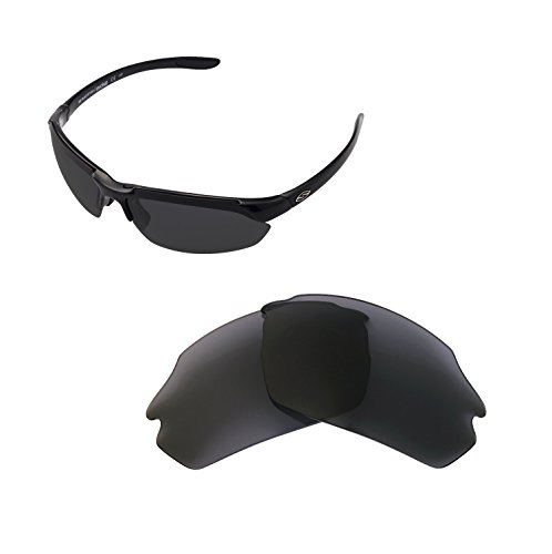Walleva Replacement Lenses For Smith Parallel Max Sunglasses - Multiple Options available (Black - - Replacement Smith Lenses Sunglass