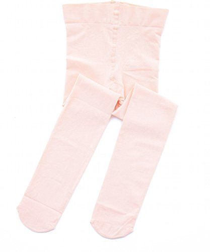 STELLE Girls' Ultra Soft Pro Dance Tight/Ballet Footed Tight (Toddler/Little Kid/Big Kid)(XS, Ballet Pink) by STELLE