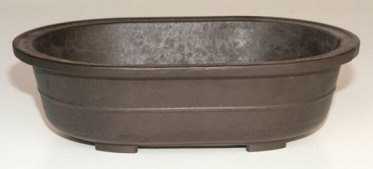 Bonsaiboy Brown Mica Bonsai Pot - Oval 11.5