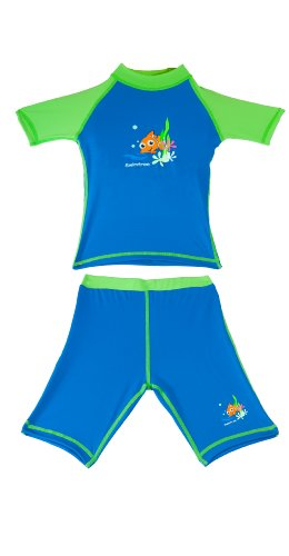 Boys Size 10 Sun Uv Protective Rashguard Swimsuit Swim