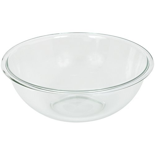 Pyrex Prepware 4-Quart Rimmed Mixing Bowl, Clear