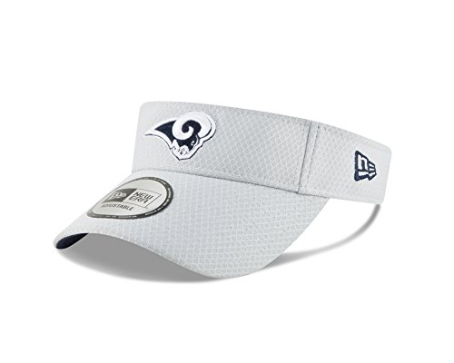 New Era Los Angeles Rams Official 2018 NFL On-Field Training Visor -Gray by New Era