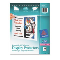 Avery 74404 Self Adhesive Sheet Protectors,Removable,10/PK,11-Inch x8-1/2-Inch,CL ()