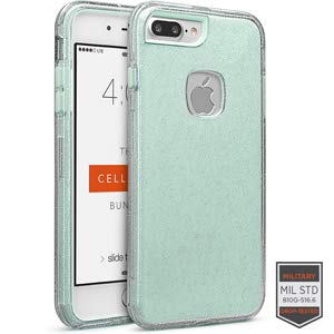 Cellairis Rapture Case for Apple iPhone 7 Plus - Rapture Clear Silver Glitter/Aq from Cellairis
