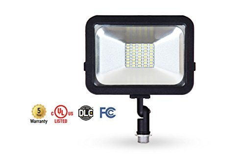 Cheap ASD 20W LED Flood Light with Knuckle Mount Super Slim Compact SMD Outdoor Led Light Landscape Security Waterproof UL Listed DLC Certified 5000K (Daylight)