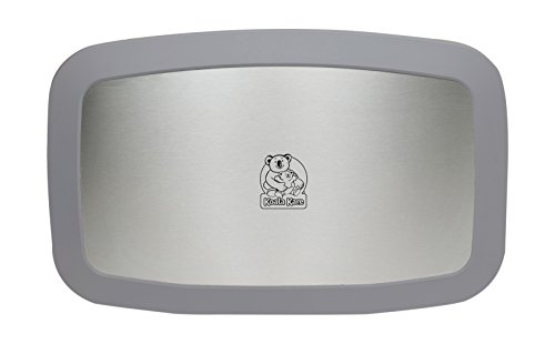 Koala Kare KB200-01SS Horizontal Wall Mounted Baby Changing Station, Gray (Stainless Wall Mount Liner)