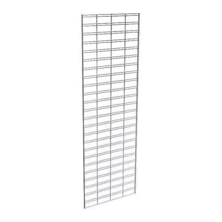 Wire Slatgrid Panel, Chrome, 2ft.x6ft, PK3
