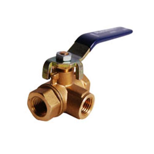 Legend Valve 101-445 Three-Way Forged Brass Ball Valve, 2.8''x2.4''x1.1''