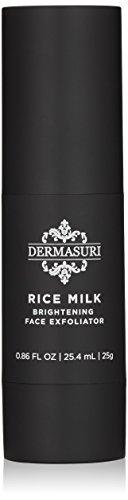 DERMASURI Rice Milk Brightening Face Exfoliator, a deep exfoliating face scrub and gommage peel