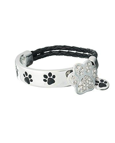 Jewelry Nexus Silver-tone Dog Paw Charm Crystal Double Strand Bracelet Don't forget the (Best Jewelry Nexus Friend Friendship Bracelets)