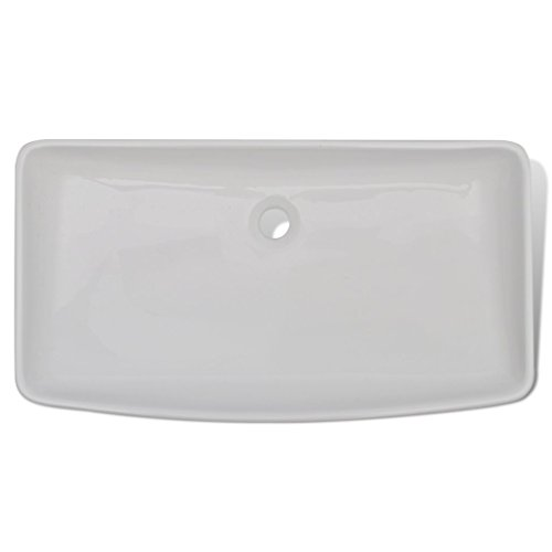 Daonanba Durable Stylish Luxury Premium Ceramic Basin Rectangular Sink White 28'' x 15'' by Daonanba (Image #2)