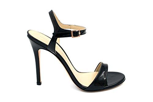 Sandalo Con Tacco Alto Da Donna Christina Lombardi - Lheidi In Vernice Nera