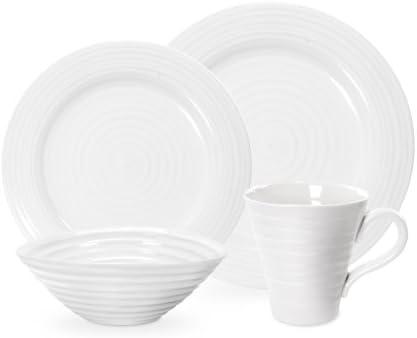 Sophie Conran for Portmeirion 12 Piece Coupe Set Porcelain White 27.9 x 27.9 x 2.5 cm