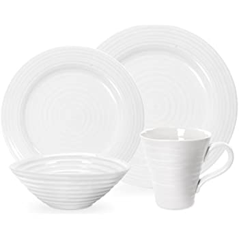 Portmeirion Sophie Conran White 4 Piece Placesetting  sc 1 st  Amazon.com & Amazon.com: Portmeirion Sophie Conran White 4 Piece Placesetting ...