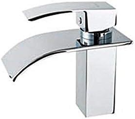 YKJ-YKJ 蛇口モダンデザインのシングルハンドルステンレス鋼の滝の浴室の蛇口を使用し毎日、耐久性に優れました 蛇口