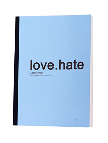 """Enwraps """"Love.hate"""" Notebook 128 Pages Soft Bound Sky Blue (2pcs)"""