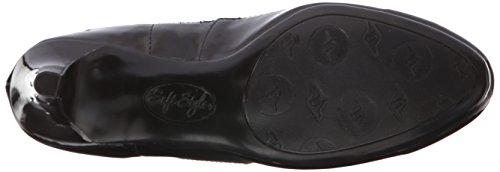 Polyurethane Pump Style Cristina Women's Black Vitello Soft Patent White Z8HBnBx
