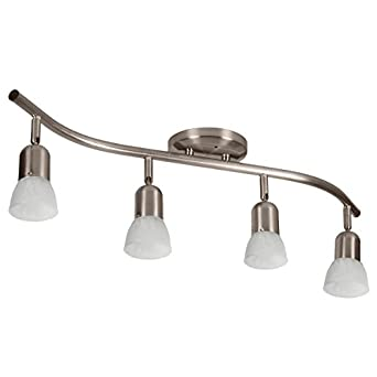 4 globe track lighting wall or ceiling mount light fixture brushed nickel ceiling mount track lighting