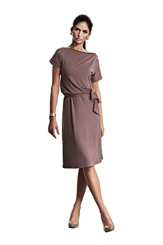 Nife Robe sublime avec zip, Taille 42, Mocca