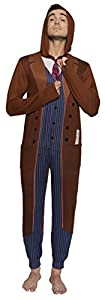 Doctor Who Tenth Doctor Adult One Piece Pajamas