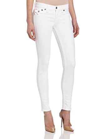 True Religion Women's Serena Denim Leggings, Qy Optic White, 24