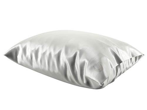 Sleepgram Pillowcase-White-Queen/Standard Size Silk Pilllowcase, King, Vanilla