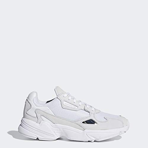 adidas Originals Women's Falcon Sneaker, White/White/Crystal White, 10.5 M US