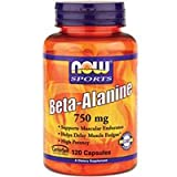 NOW Foods - Beta-Alanine 750 mg. - 120 Capsules ( Multi-Pack)