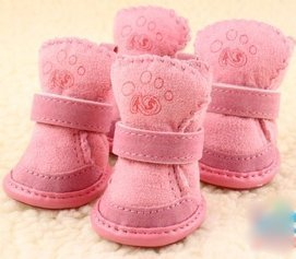 Happy Pets Unique Novel Nice Fashion Cool Interesting Cute Special Pet Sneakers Dog Cat Shoes Thermal Snow Boots Cotton Padded (Pink, 2) -