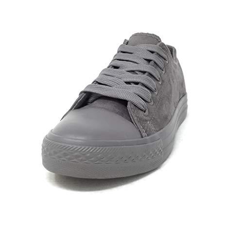 Gris Basique Talon Femme Chaussure T Mode Baskets Angkorly 38 6 3 Simple 666 Plat Tennis Cm Classique Confortable Ox0gwqz