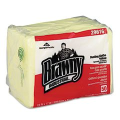 Georgia Pacific 29616 - Brawny Industrial Dusting Cloths Quarterfold, 17 x 24, Yellow, 50/Pack, 4/Carton