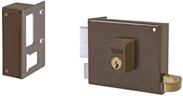 Yale, 124140IHP, Cerradura de Sobreponer Estándar, Hierro Pintado, 140 mm, 125 / Izquierda: Amazon.es: Bricolaje y herramientas