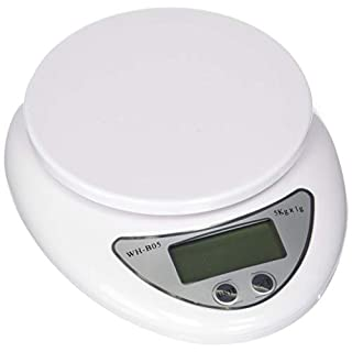 LuckyStone Wh-B05 Electronic Digital Kitchen Food Scale 5000 g/1 g, White