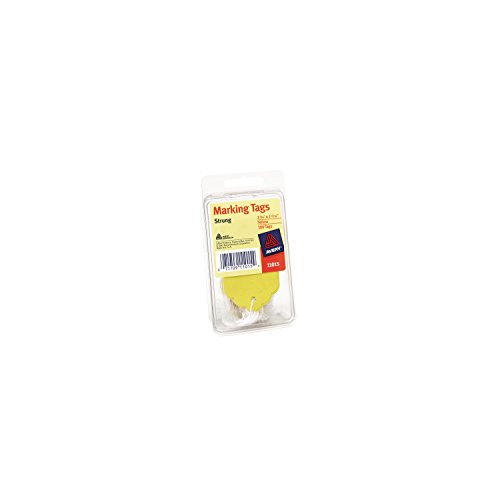 (Avery Marking Tags, Strung, Yellow, Pack of 100, 2.75 x 1.68 Inches (11015))