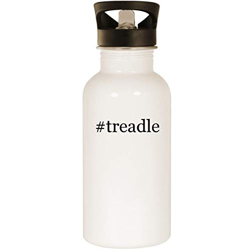 (#treadle - Stainless Steel Hashtag 20oz Road Ready Water Bottle, White)