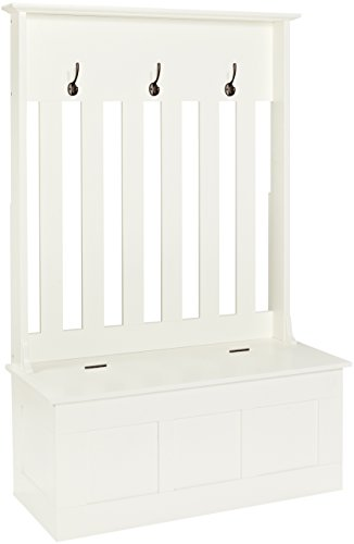 Crosley Furniture Ogden Entryway Hall Tree with Storage Bench - White by Crosley Furniture