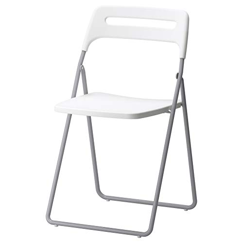 (IKEA ASIA Nisse Folding Chair Silver-Colour White )