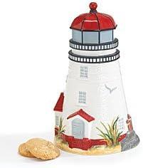 Amazon Com Lighthouse Cookie Jar Coastal Light Kitchen Dining