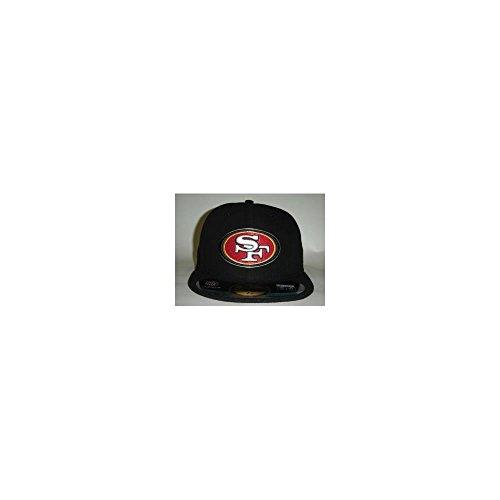 レキシコン納屋社会New Era NFL SAN Fransisco 49ers AuthenticコレクションブラックFittedキャップ59 Fifty NewEra