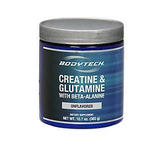 BodyTech Creatine Glutamine 5GM with Beta Alanine Unflavored Supports Muscle Growth, Recovery Immune Health (10.8 Ounce Powder)