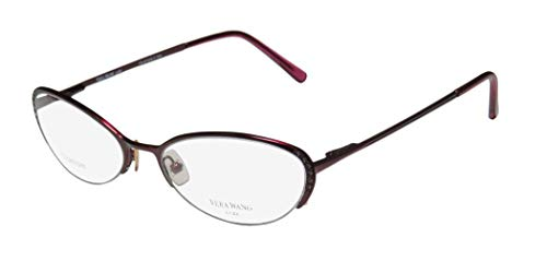 Vera Wang Epiphany Ii For Ladies/Young Women/Girls Designer Half-rim Titanium Crystals Spring Hinges Eyeglasses/Eye Glasses (50-17-135, ()