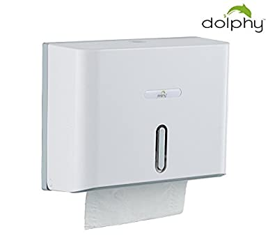 Dolphy Multifold Mini Hand Towel Paper Dispenser - White Commercial Restroom Fixtures at amazon