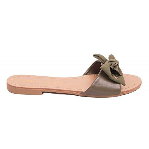 Primtex - Sandalias para mujer caqui