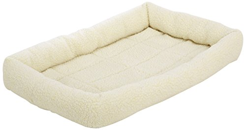 AmazonBasics Padded Pet Bolster Bed - 29 x 19 inches (Dog Crate Pad 30)