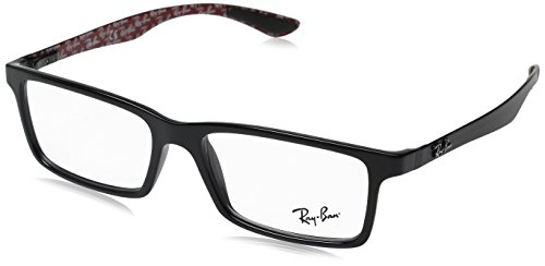 Ray-Ban RX8901 Carbon Eyeglasses-2000 Black/Red - Ray Ban Eyeglasses And Black Red