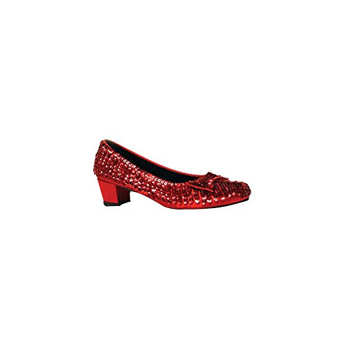 Big Girls' Red Sequin Judy Shoes - Child Costume Accessory - Medium