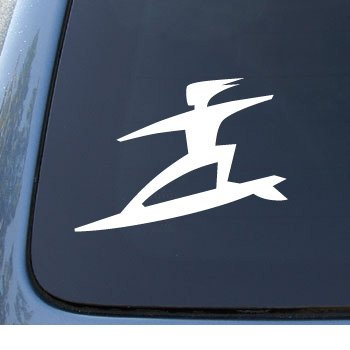 1033 Notebook (SURFER - Surf Board Dude - Car, Truck, Notebook, Vinyl Decal Sticker #1033 | Vinyl Color: White)