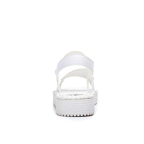 8c5b278f01330 ... Camel Womens Casual Flat Sandals Flip Flop Platform Footbed White  igD0p3J ...