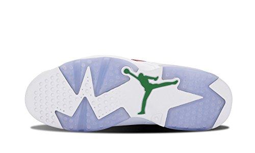 Nike Mens Air Jordan 6 Retro Spizike Geschiedenis Van Spizike Varsity Rood / Klassieke Groen-wht Lederen Basketbalschoenen Maat 10